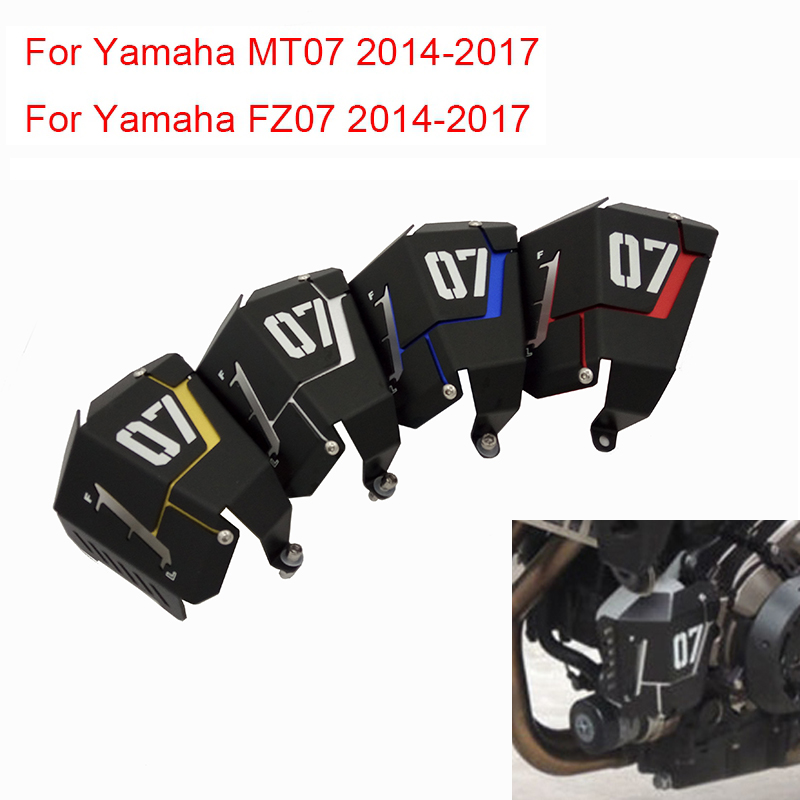 MT07 MT 07 Water Coolant Recovery Tank Shielding Guard Frame Radiator Side Cover Protector For Yamaha MT-07 FZ-07 MT FZ 07 14-17 for yamaha mt 07 mt 07 fz07 mt07 2014 2015 2016 accessories coolant recovery tank shielding cover high quality cnc aluminum