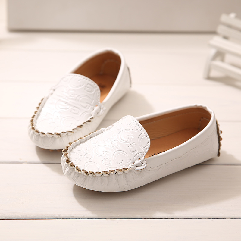 New Boys Girls Leisure Shoes Soft Sole Leather Loafers