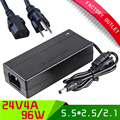 1 set  CE/ ROHS/FCC passed AC Universal 100V-240V for DC 24V 4A 96W led Power Supply Charger Converter Adapter+ AC us plug cord