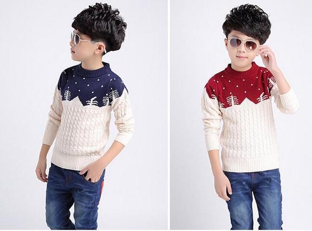 Boys Pattern Sweaters Kids Cotton & Wool Sweaters Children's Print Sweaters Child Boy Cartoon Sweater