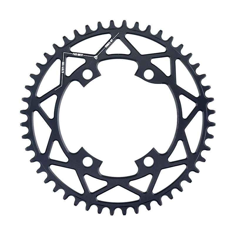 PASS QUEST R110 4 BCD 110BCD Round Road Bike 40T 52T Narrow Wide Chainring Bike Chainwheel