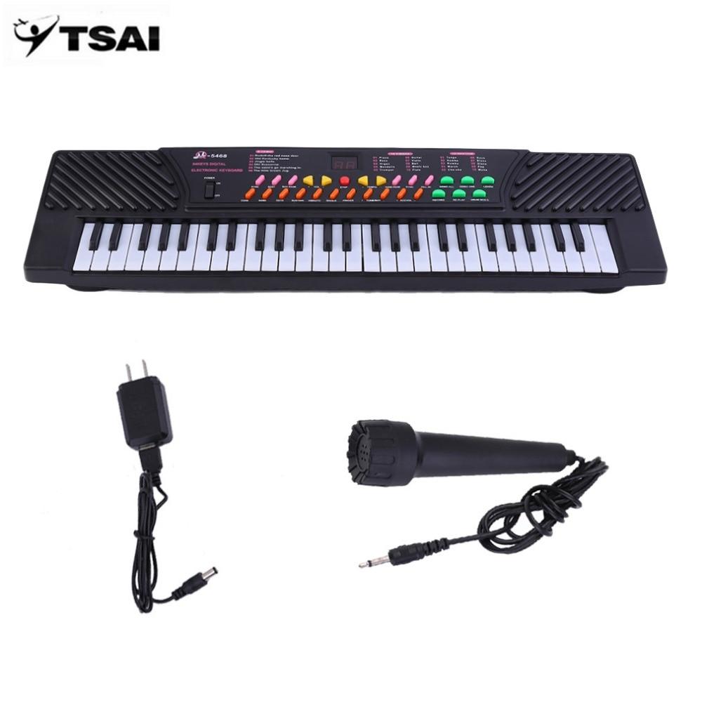 TSAI 54 clé enfants clavier numérique musique Piano pour adultes ou enfants débutants électronique avec micro orgue US Plug livraison directe