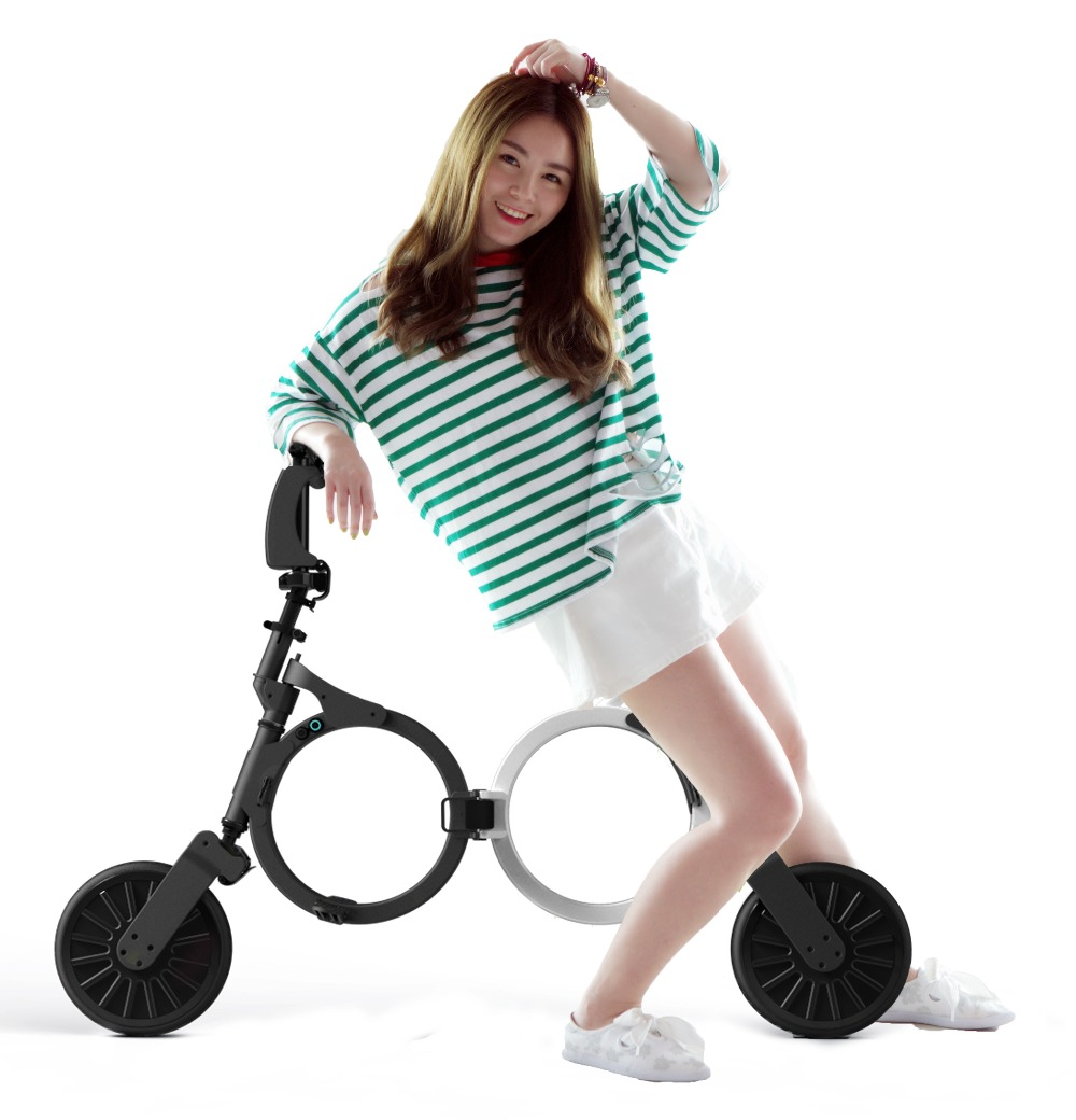 2017 DOUNA K1 Folding electric bicycle, electric scooter, electric bike,lithium battery,weight 9.8KG,Max load 75kg