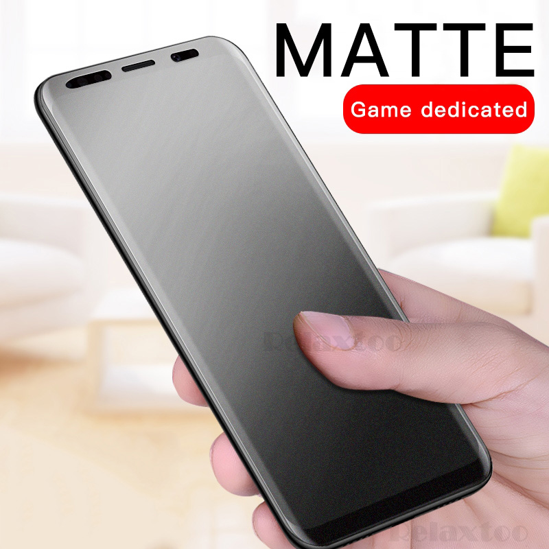 Frosted Matte Screen Protector Tempered Glass for Samsung Galaxy A9 A6 A8 Plus 7