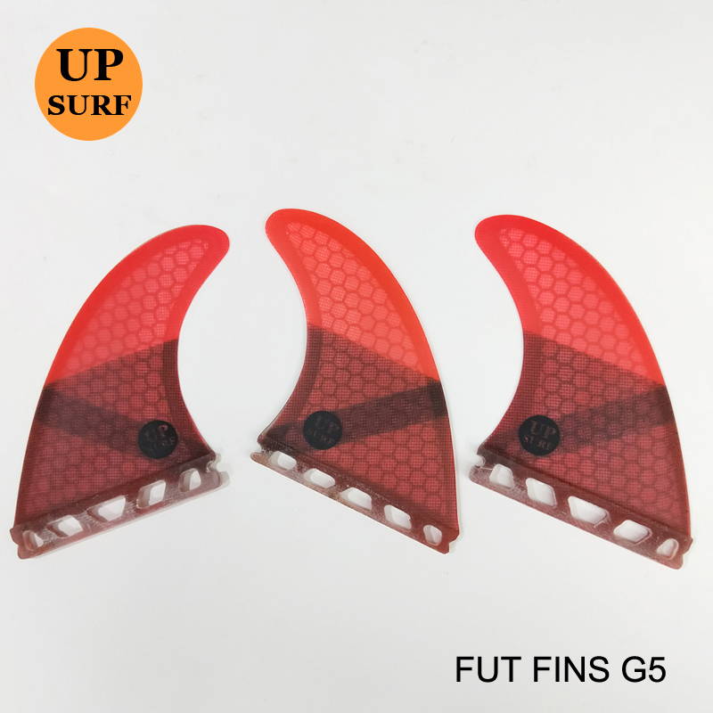Surfing Paddling Future Fins G5 Honeycomb Aletas de fibra de vidrio Aleta de tabla de surf Aletas de color puro 4 colores disponibles 3pc por juego