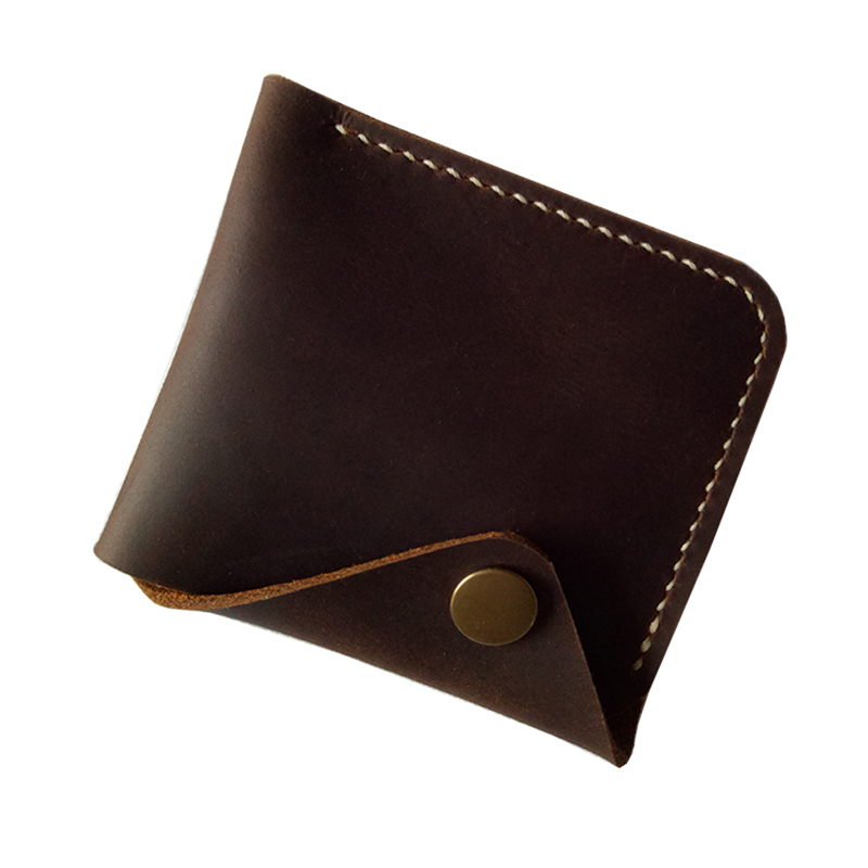 Original New Genuine Leather Handmade Simple Vintage Retro Hasp Men Wallet Small Purse Card Holder Clutch carteira portefeuille