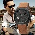1 pc/lote unisex elegante 100% banda de couro genuíno importado japão quartz luxo marca curren 8139 relógio de pulso