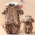 Baby romper baby coveralls thick padded winter coat and winter clothes newborn baby clothes for men and women