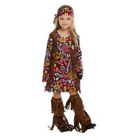 Indian Style Aboriginal Clothing Children's dress Halloween Barbarian Costume Leopard African Primitive Savage Cosplay Costume