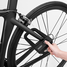 ROCKBROS Bike Bicycle Lock Anti-Theft Motorcycle Fingerprint MTB Road Folding Cycling U For