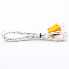 Professional Measurement Analysis Instruments Accessories 1 Meters 2 Flat Pin Plug K Type Thermocouple Temperature Test