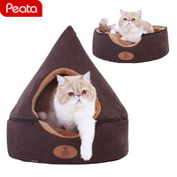 Pet Dog Bed Cat Tent House All Seasons Dirt resistant Soft Bed with Double Sided Washable Cushion Dog Beds for Small Dogs Y