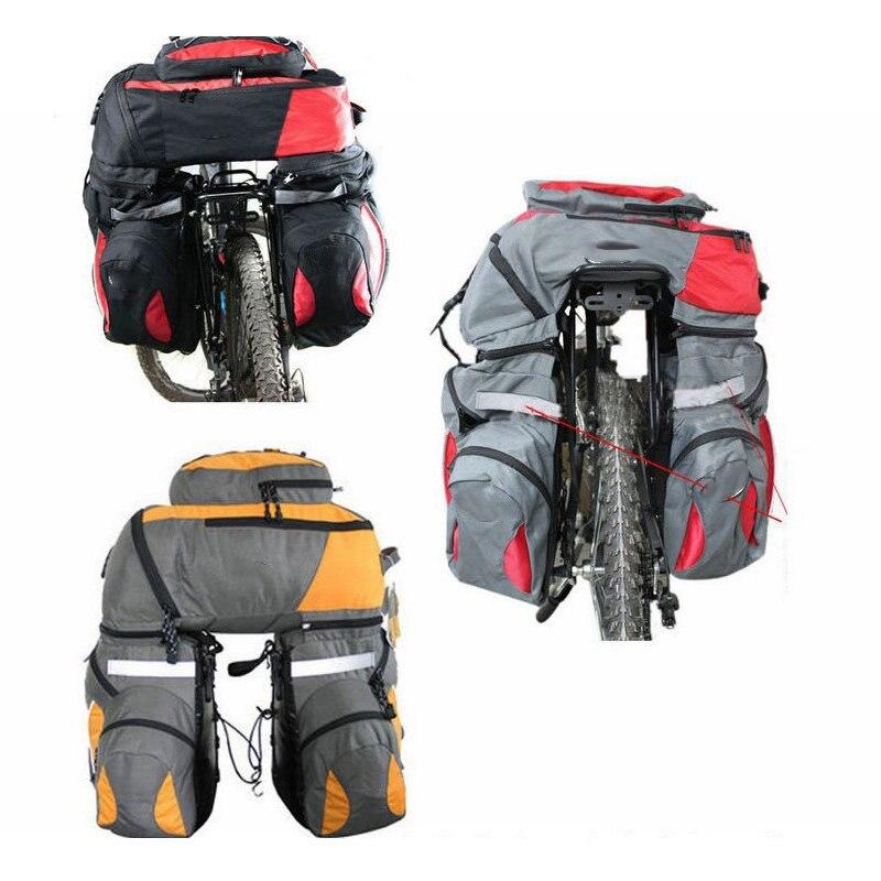 1x Polyvalent Convertible Vélo Arrière porte-bagages & Sac À Dos Vélo Vélo conteneur de voyage Sac avec Couvercle Étanche À La Pluie