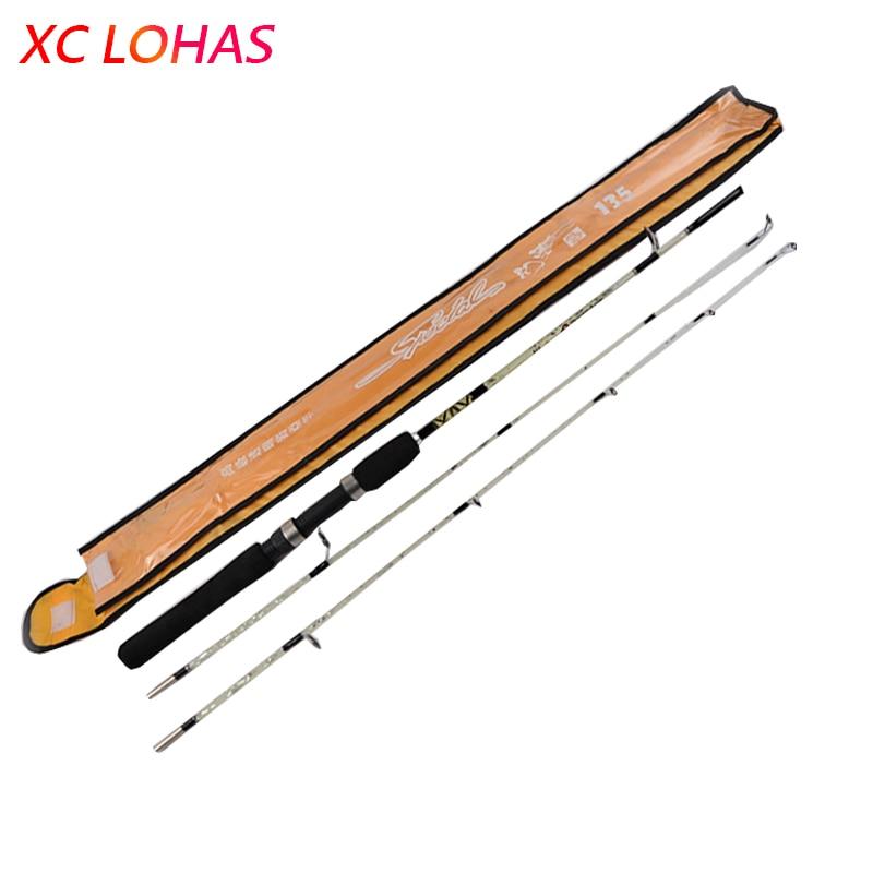 2 Tips 1 5 1 8 2 1M Casting Rod Baitcasting Fishing Rods Pole Glass Fiber