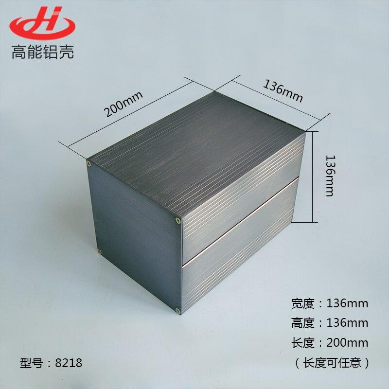 1 Piece Aluminum Housing Case For Electronics Project Case 136(H)x136(W)x200(L) Mm 8218