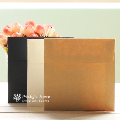 10PCS/LOT 10*10cm Kraft Square Mini Blank Envelopes For Membership Card / Small Greeting Card / Storage Paper Envelopes