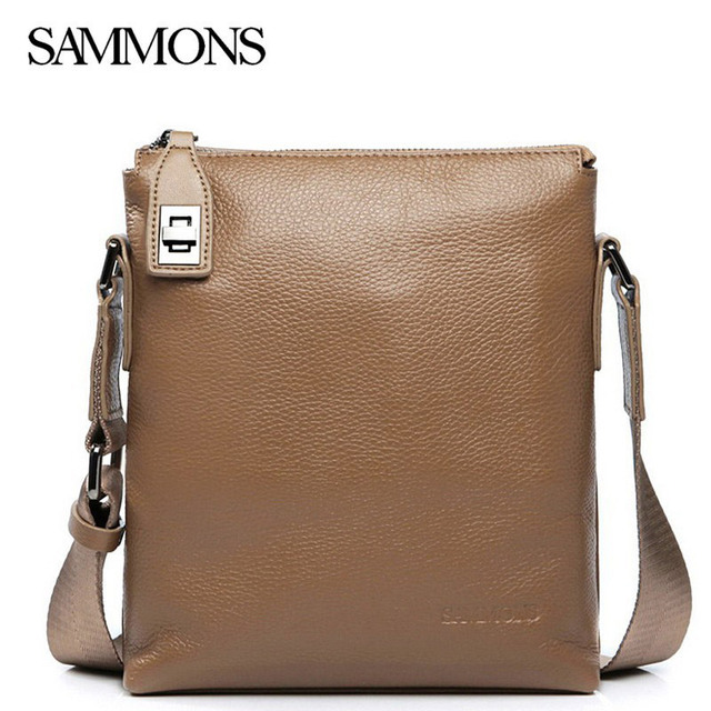 Fashion Elegant Man Bag Small Leather Shoulder Male Genuine Bags Men Messenger