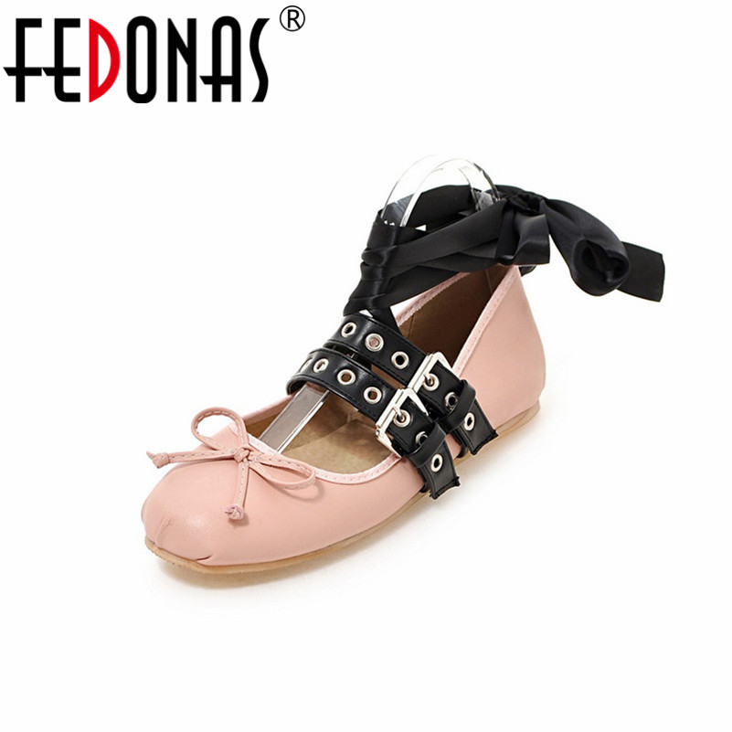FEDONAS Elegant Bowtie Spring and Autumn Women Flats Fashion Boat Shoes Woman Casual Brand Rivets Corss-tied Shoes Plus Size beyarne rivets decoration brand shoes flats women spring autumn fashion womens flats boat shoes sexy ladies plus size 11