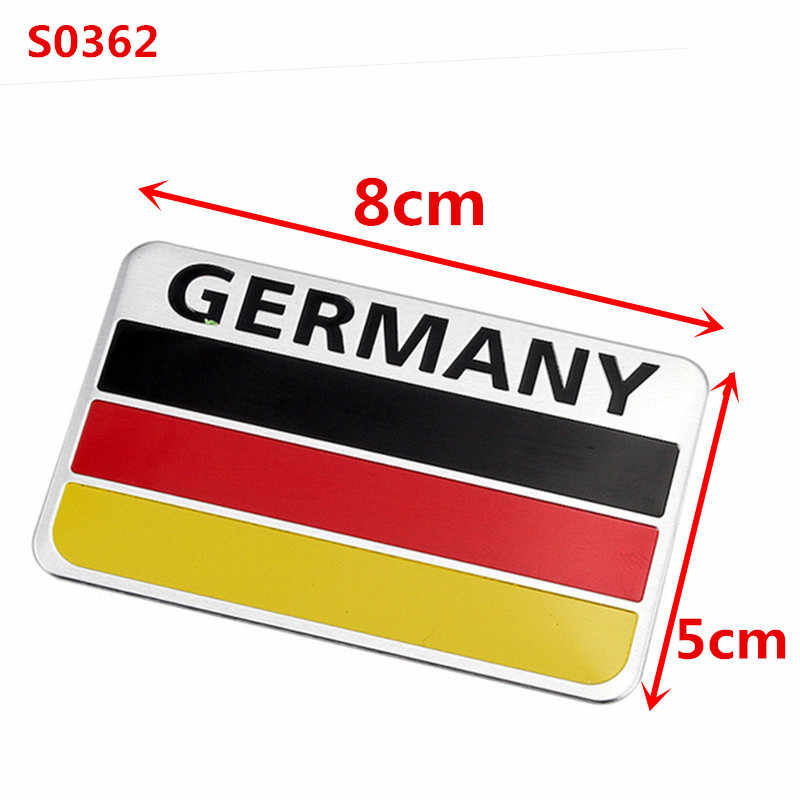 3D Metallo Germania Tedesco Bandiera Nazionale Distintivo Auto Griglia Anteriore Griglia Emblema Sticker Racing Sport Decal per VW Benz BMW audi Sline