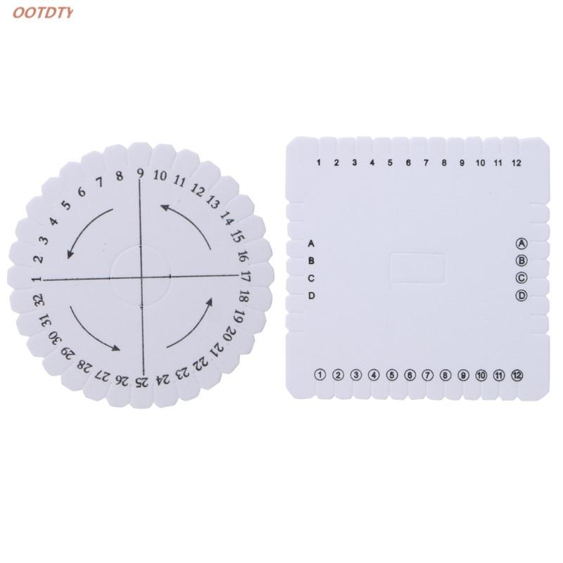 1x Square Round Kumihimo Braiding Cord Disc EVA Foam DIY Braided Plate Tool Gift