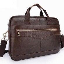 Лидер продаж Модные Простые в горошек известный бренд Бизнес Для мужчин Портфели сумка кожаная сумка для ноутбука Повседневное человек сумка сумки на ремне