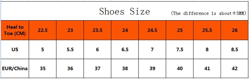 女鞋尺码 拷贝