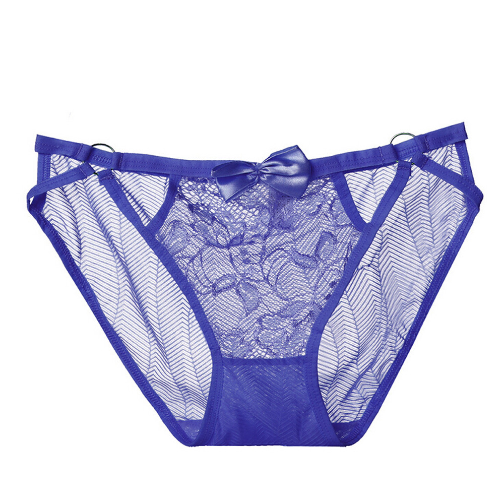 Buy Underwear Women G string Sexy String Lingerie Lace Thong Seamless Briefs Transparent Panties womens ladies underpants female