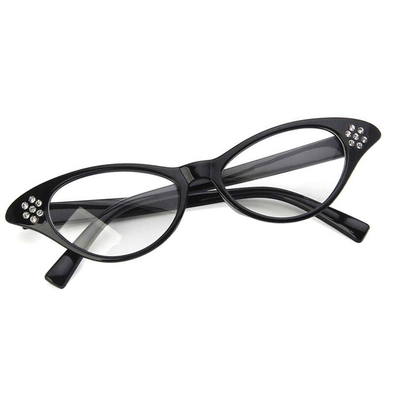Fashionable women's glasses cat's eye rim sexy striped retro glasses Women's vintage glasses frame with clear lenses designer