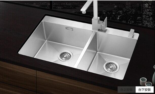 Kitchen sink S211 Sottopiano Cucina doppio lavello inox all\'ingrosso ...
