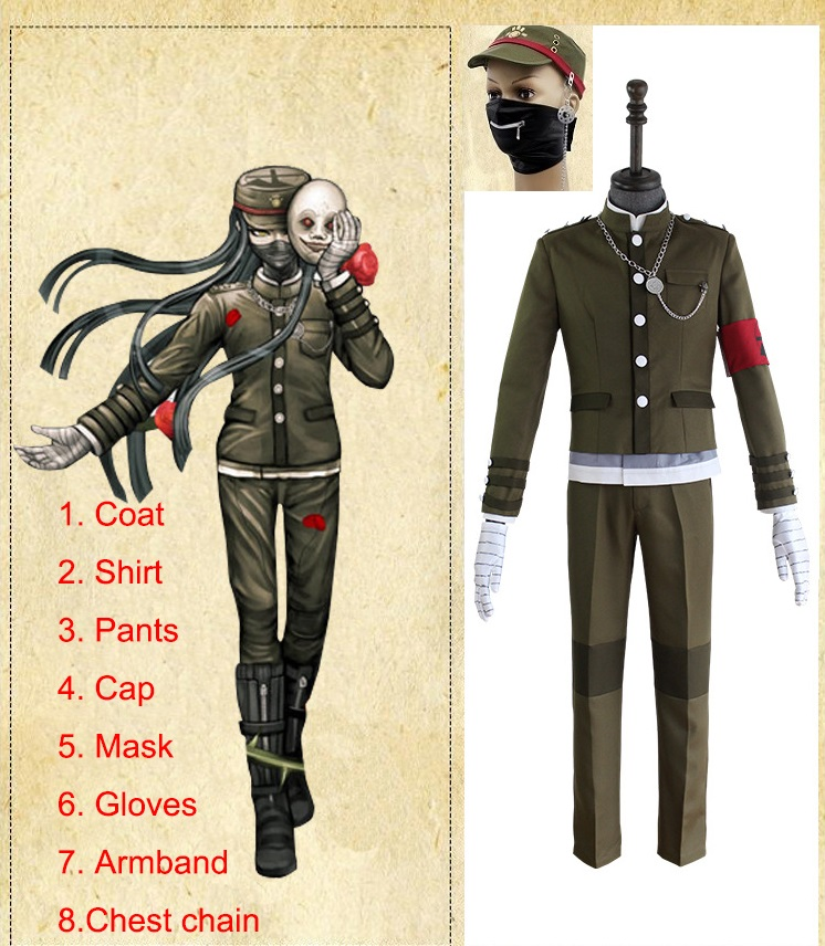 Game Danganronpa V3: Killing Harmony Cosplay Danganronpa Cosplay Costume Korekiyo Shinguji Uniform Halloween Costume Full Set-in Anime Costumes from Novelty & Special Use    1