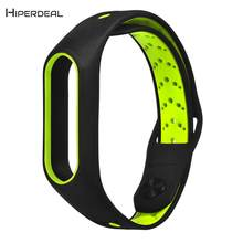 HIPERDEAL 4 Color Replacement For Xiaomi Mi Band 2 Silicone Fashion Ventilate Sport Strap Wristband Fashion Sport Band QIY04(China)