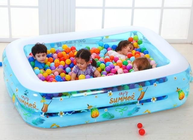 842deabcb3dfd 200x150x53 cm grande piscine gonflable jeu parent-enfant océan piscine à  balles pataugeoire pour enfants