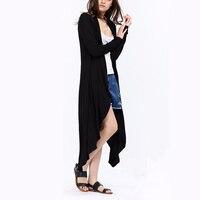 Maxi Cardigan Feminino 2017 Autumn Long Sleeve Irregular Ankle Length Bat Sweater Coat Cardigan Casual Ladies