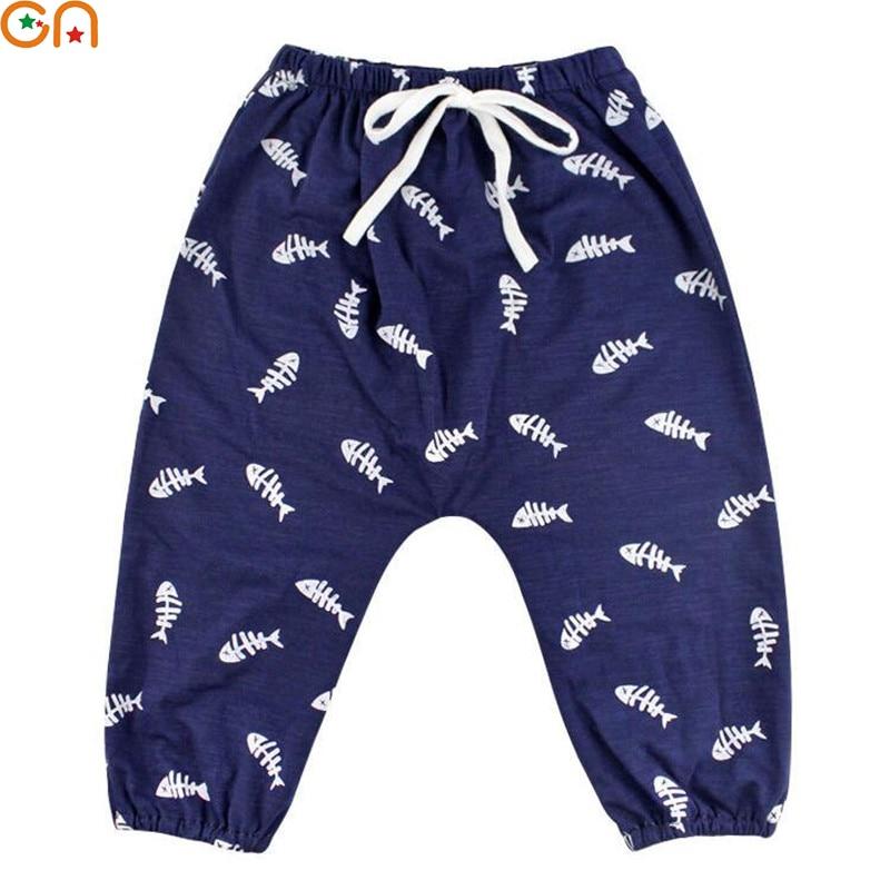 Kids Cotton Harem pants Boy,Girl,Baby,Infant,fashion Anti-mosquito printing soft pants Children High-quality clothing gifts CN