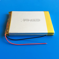 3 7V 6400mAh Rechargeable Lipo Polymer Lithium Li Ion Battery For Power Bank Tablet PC Laptop
