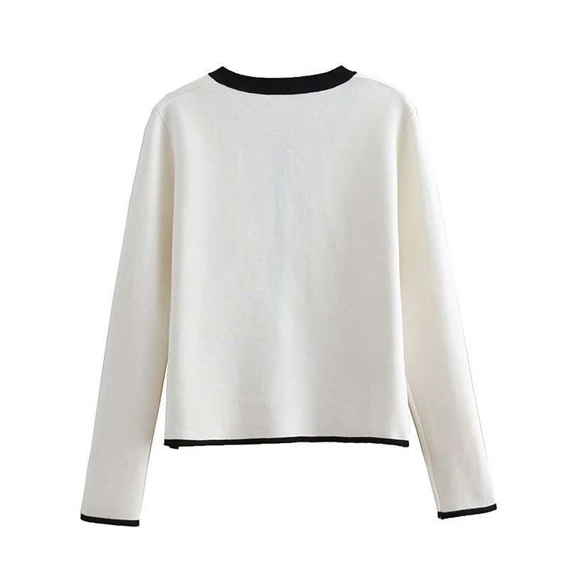 O-Neck Open Stitch Knitted Sweaters Spring Women Thick Sweaters Wild Button Long Sleeve Tops Ladies Fashion Sweaters Outwear