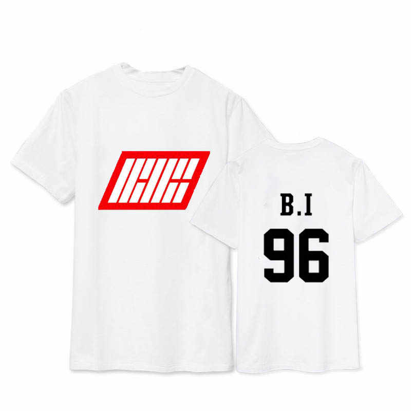 KPOP Ikon Bobby BI JINHWAN álbum camisas K-POP ropa de algodón Casual Camiseta de manga corta Tops camiseta DX091