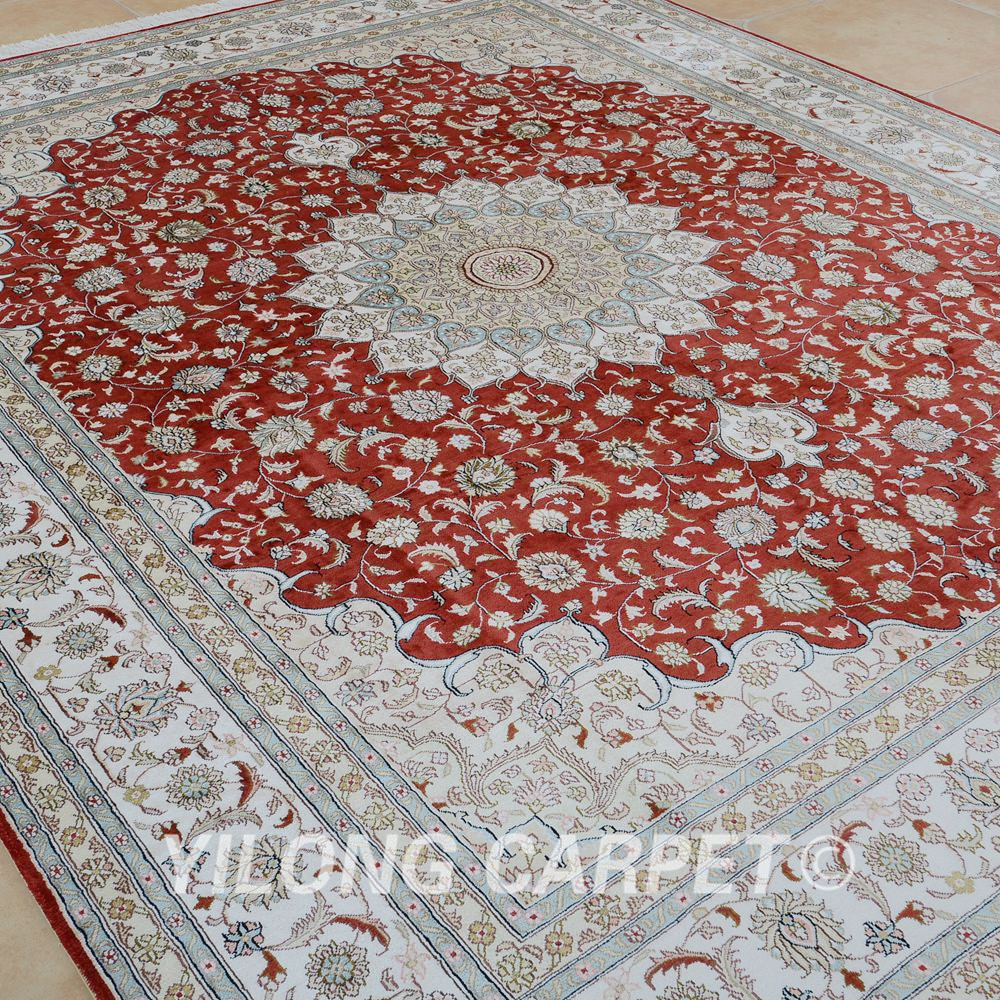 Yilong 8 X10 Handmade Silk Persian Rugs Antique Red China Carpet Price 0950 In From Home Garden On Aliexpress Alibaba Group