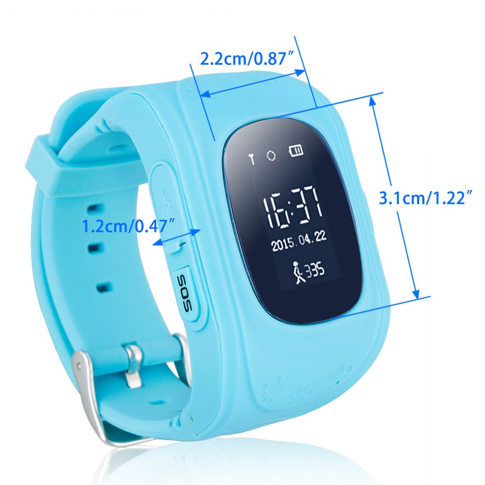 2016 Smart Kid Safe GPS Watch Wristwatch SOS Call Location Finder Locator Tracker for Kid Child Anti Lost Monitor Baby Gift Q5013