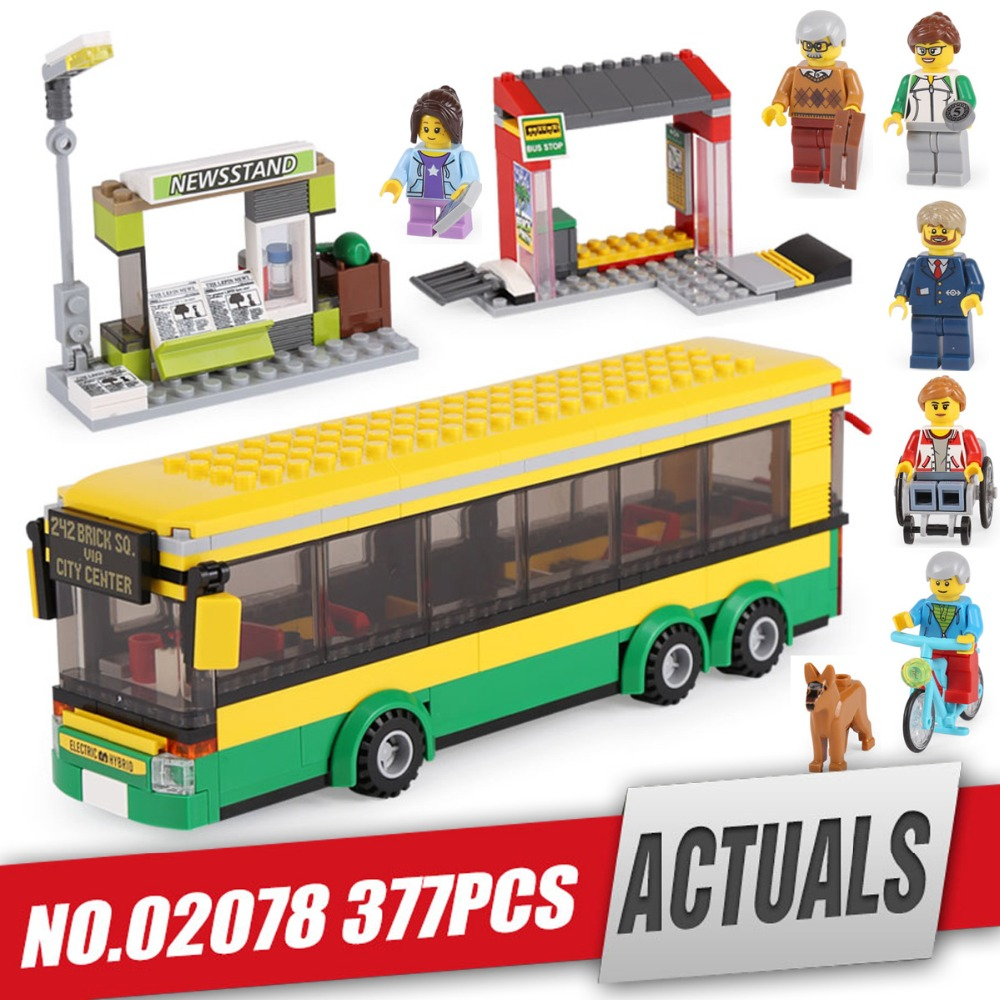 Free Shipping Lepin 02078 Genuine City Series The Bus Station Set With Legoing 60154 Building Blocks Bricks Educational Toys lepin 02078 377pcs the bus station set 60154 model city series building blocks bricks educational toys as kids birthday gifts