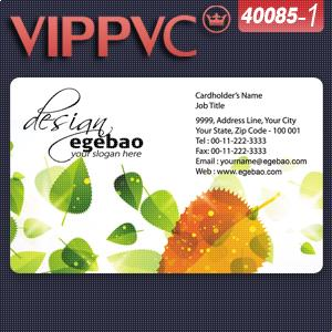 a40085-1 white plastic  PVC card    business card template