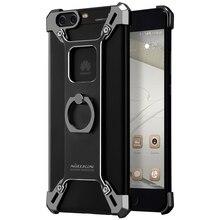 Nillkin pour Huawei P10 Plus Couvercle du Boîtier Bardes En Alliage D'aluminium de Couverture Arrière Pour Huawei P10 avec Anneau Téléphone Titulaire