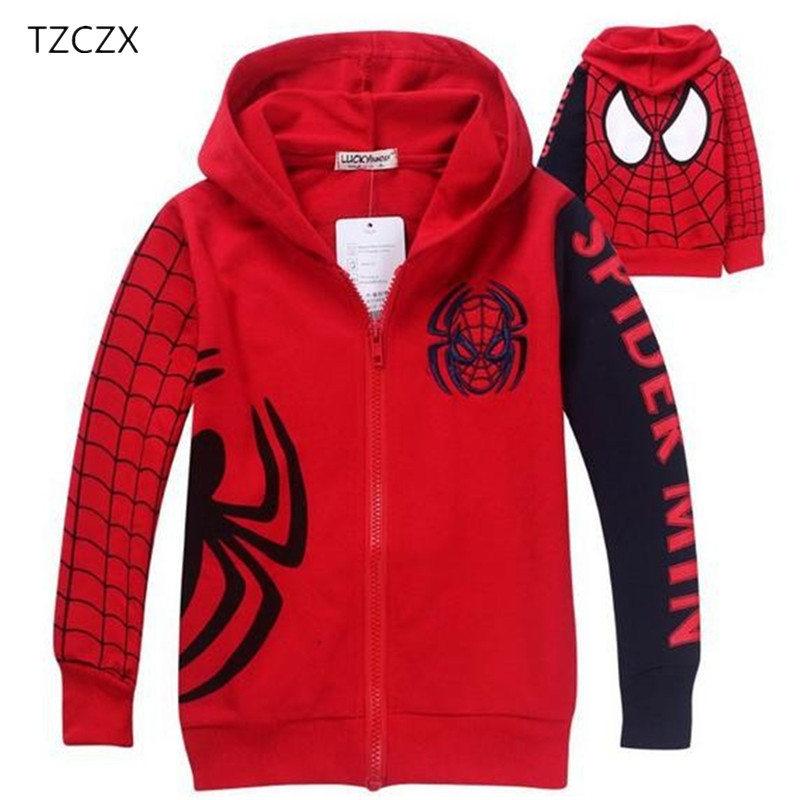 TZCZX 1pcs Children Boys Embroidered Character Hooded Jackets