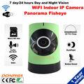 2016 NOVA CCTV lente de 1850 graus Fisheye IPC WiFi câmera IP Panorâmica câmera 720 P visão monitor do bebê Fácil configuração do APLICATIVO Móvel para casa
