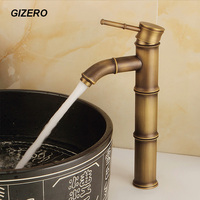 New Bathroom Faucets Antique Retro Bamboo Design Basin Faucets Deck Mounted Vessel Sink Mixer Tap Grifo ZR139