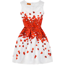 Teenager Girls Dress Summer Fashion Sleeveless A-Line Princess Dresses Party Girl's Clothes Also Can Be Mother Kids Vestidos