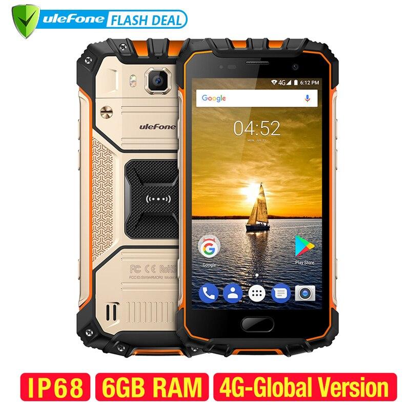 Ulefone IP68 2 Armadura À Prova D' Água Telefone Móvel NFC 5.0 polegada FHD Octa Núcleo Android 7.0 gb RAM 64 6 MTK6757 gb ROM 16MP 4g Smartphones