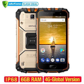 Ulefone Armor 2 Étanche IP68 NFC Téléphone Portable 5.0 pouce FHD MTK6757 Octa Core Android 7.0 6 gb RAM 64 gb ROM 16MP 4g Smartphone