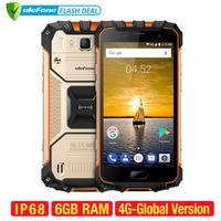 Ulefone Armor 2 телефон смартфон телефоны смартфоны Водонепроницаемый IP68 Мобильный телефон 5.0 дюймов fhd MTK6757 Octa core Android 7.0 6 ГБ Оперативная память 64 Г...
