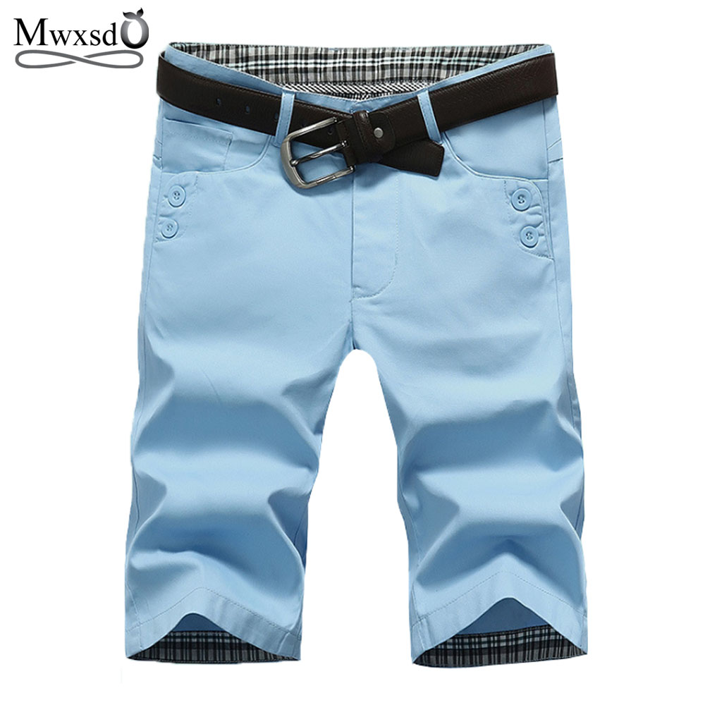High Quality Mwxsd Brand Mens Cotton Shorts Summer Men Shorts Homme Stylish Casual Beach Shorts Men Short Pants 28~38